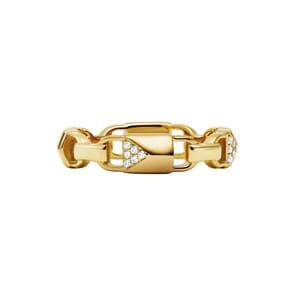 Michael Kors Premium 925 Silber Damenring MK Mercer Link