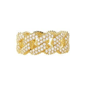Michael Kors Premium 925 Silber Damenring MK Statement Link