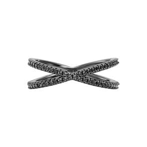Michael Kors Premium 925 Silber Nesting-Damenring MK Custom Kors