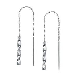 Michael Kors Premium 925 Silber Ohrhänger MK Flexible Link