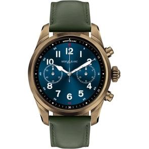 Montblanc Summit 2+ Smartwatch bronzefarbener Edelstahl und Leder
