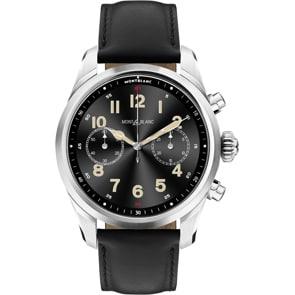 Montblanc Summit 2+ Smartwatch Edelstahl und Leder