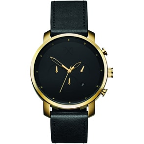 MVMT Chrono Gold Black Leather