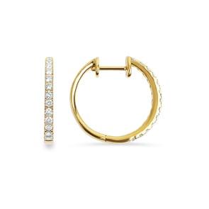 Ohrkreolen 750/18 K Gelbgold mit Diamanten 0.52 ct H/Si