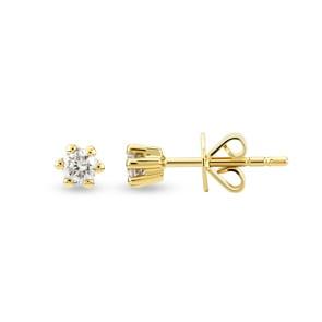 Ohrstecker 750/18 K Gelbgold mit Diamant 0.10 ct H/si