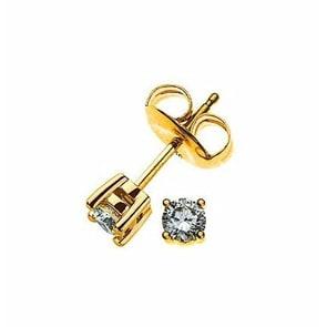 Ohrstecker 750/18 K Gelbgold mit Diamant 0.15ct H/Si