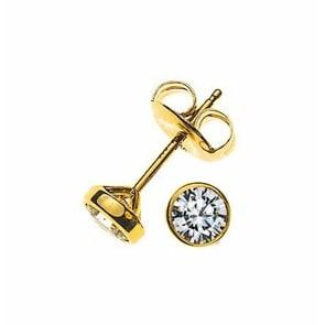 Ohrstecker 750/18 K Gelbgold mit Diamant 0.25ct H/Si