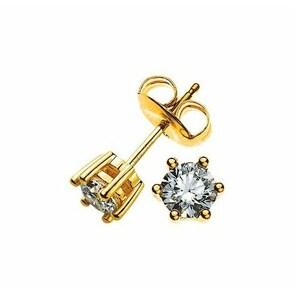 Ohrstecker 750/18 K Gelbgold mit Diamant 0.50ct H/Si