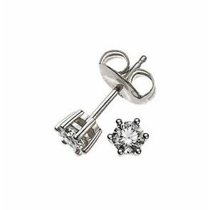 Ohrstecker 750/18 K Weissgold mit Diamant 0.15ct H/Si