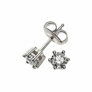 Ohrstecker 750/18 K Weissgold mit Diamant 0.25ct H/Si
