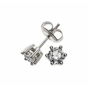 Ohrstecker 750/18 K Weissgold mit Diamant 0.50ct H/Si