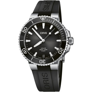 Oris Aquis Date Calibre 400 Schwarz / Kautschuk Ø 41.5mm