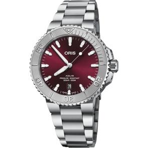 Oris Aquis Date Cherry Dial Ø 41.5mm