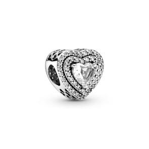 Pandora Moments Funkelndes erhabenes Herz Charm
