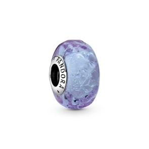 Pandora Moments Wellenförmiges Lavendelblaues Murano-Glas Charm