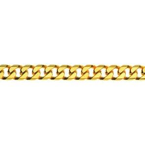 Panzerkette diamantiert 750/18 K Gelbgold 7.0mm