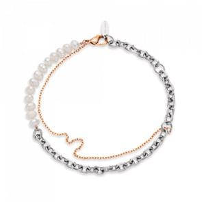 Paul Hewitt Armkette Treasure Pearls Rosé / Silbrig