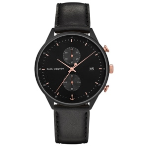 Paul Hewitt Chrono Line Black Sunray Leather Black Ø 42