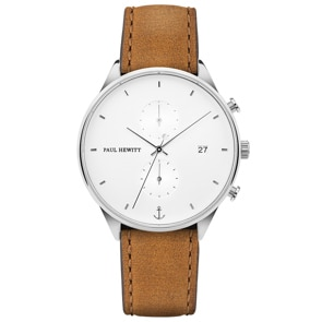 Paul Hewitt Chrono Line White Sand Leather Mustard Ø 42