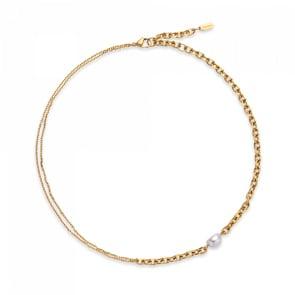 Paul Hewitt Collier Treasure Pearl Gold