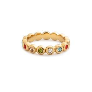 Paul Hewitt Damenring Rainbow Stones Gold