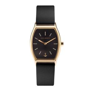 Paul Hewitt Modern Edge Line Black Sunray IP Gold Leather Black Ø 30
