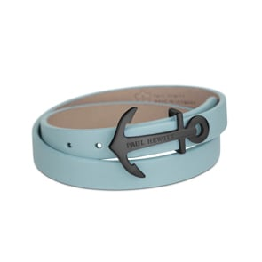 Paul Hewitt North Bound IP Black Wrap Bracelet Leather Niagara
