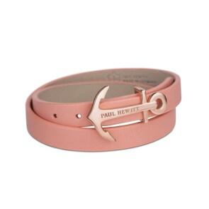 Paul Hewitt North Bound IP Rose Wrap Bracelet Leather Aurora