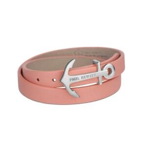Paul Hewitt North Bound Silver Wrap Bracelet Leather Aurora