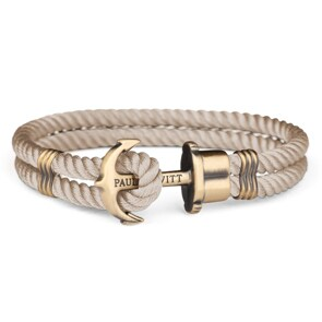 Paul Hewitt Phrep Brass Anchor Bracelet Nylon Hazelnut