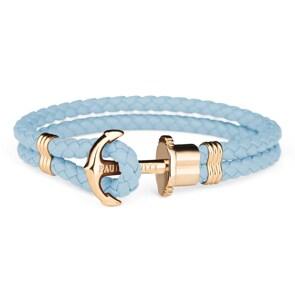 Paul Hewitt Phrep IP Gold Anchor Bracelet Leather Niagara