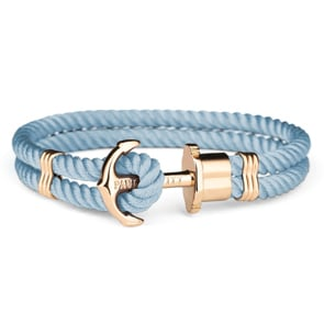 Paul Hewitt Phrep IP Gold Anchor Bracelet Nylon Niagara