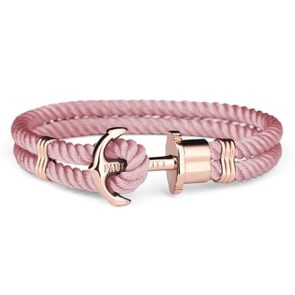 Paul Hewitt Phrep IP Rose Anchor Bracelet Nylon Aurora