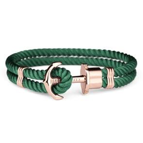 Paul Hewitt Phrep IP Rose Anchor Bracelet Nylon Green