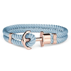 Paul Hewitt Phrep IP Rose Anchor Bracelet Nylon Niagara