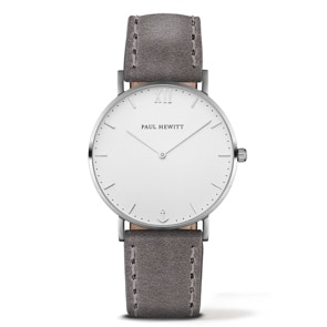 Paul Hewitt Sailor Line White Sand Leather Grey Ø 36