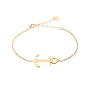 Paul Hewitt 925 Silver Anchor Spirit Bracelet 18K Plated Gold