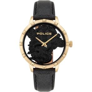 Police Marietas Gold Snake & Roses