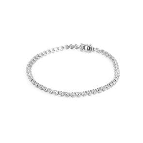Rivière/Tennis-Armband 750/18 K Weissgold mit Diamanten 0.51 ct H/si