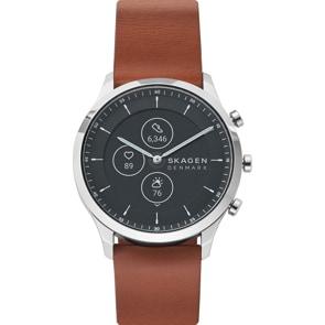Skagen Jorn 42 Hybrid Smartwatch HR Leder braun