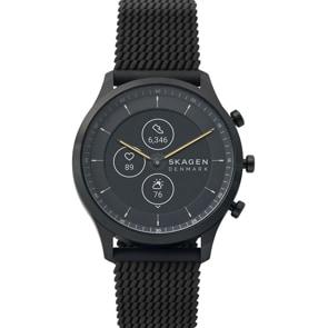 Skagen Jorn 42 Hybrid Smartwatch HR Silikon schwarz