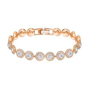Swarovski Angelic Armband, weiss, rosé vergoldet