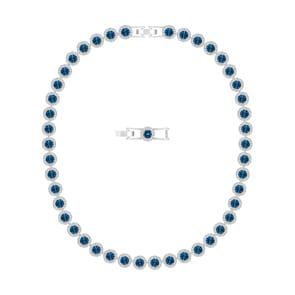 Swarovski Angelic Collier, blau, rhodiniert