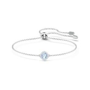 Swarovski Angelic Cushion Armband, blau, rhodiniert