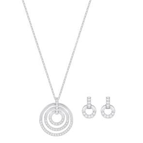 Swarovski Circle Set | Halskette mit Ohrstecker