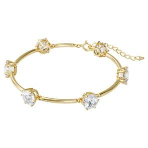 Swarovski Constella Armband, Weiss, Vergoldet