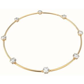 Swarovski Constella Halskette, Weiss, Vergoldet
