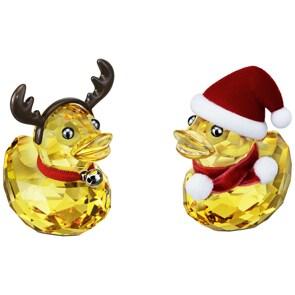 Swarovski Glückliche Enten – Santa & Reindeer Weihnachtsmann & Rentier