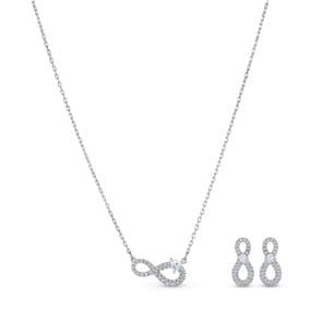 Swarovski Infinity Set | Halskette mit Ohrstecker