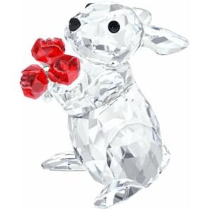 Swarovski Kaninchen mit Rosen